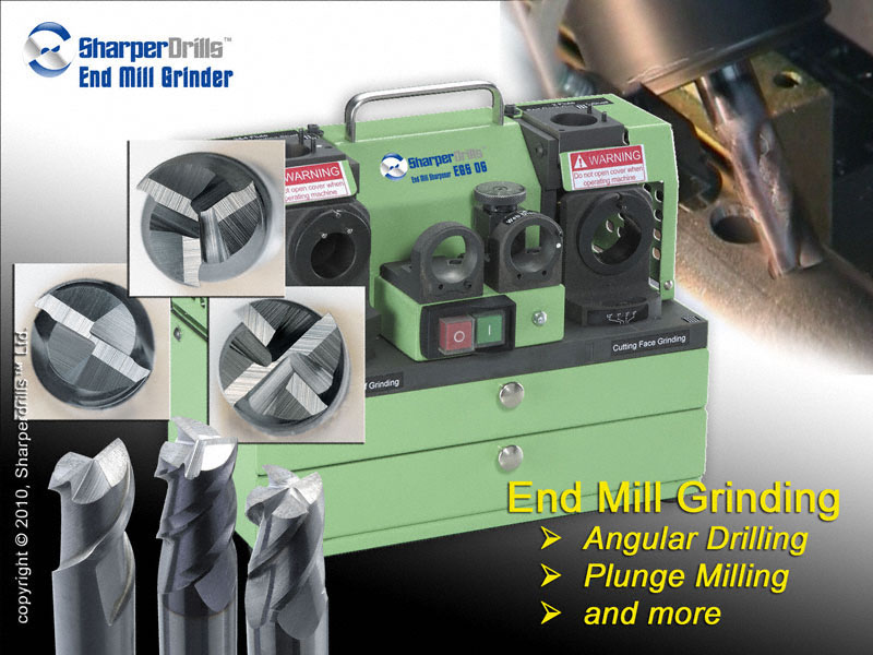 End Mill Grinder and Tip Sharpener
